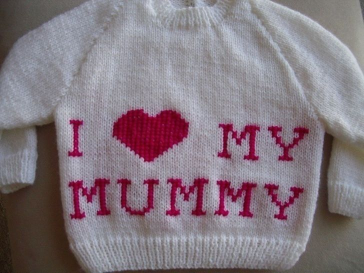"Child's ""I ♥ My Mummy"" jumper - knitting pattern at Makerist - Image 1"