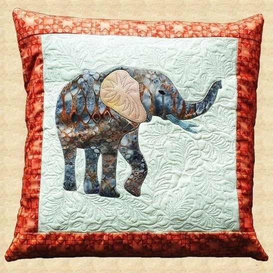 Elephant Quilted Pillow Pattern at Makerist - Image 1