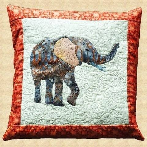 Elephant Quilted Pillow Pattern