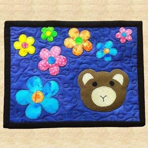 Teddy Bear Quilted Mug Rug Pattern at Makerist