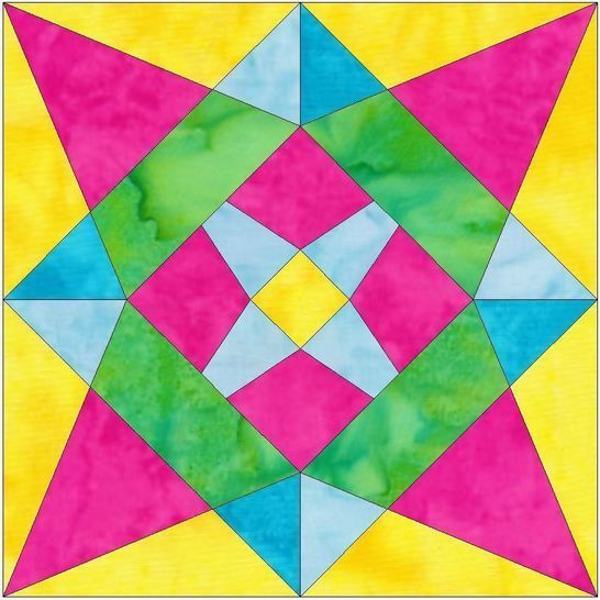 C Star 15 Inch Template Block Quilting Pattern PDF at Makerist - Image 1