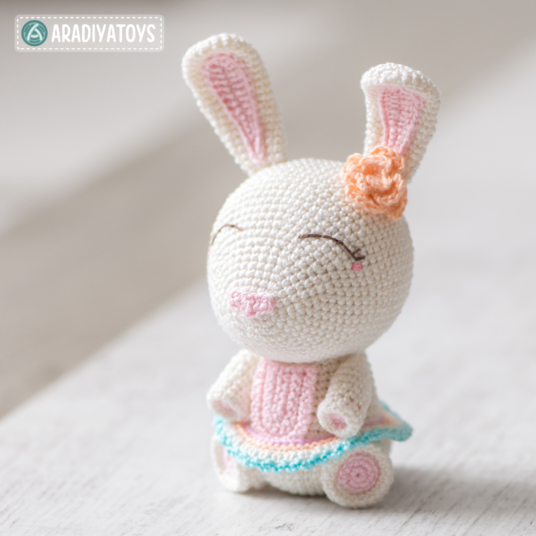 Crochet Pattern of Bunny Emma by AradiyaToys