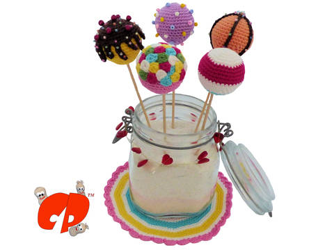 Häkelanleitung (066): Bunte Cake Pops bei Makerist