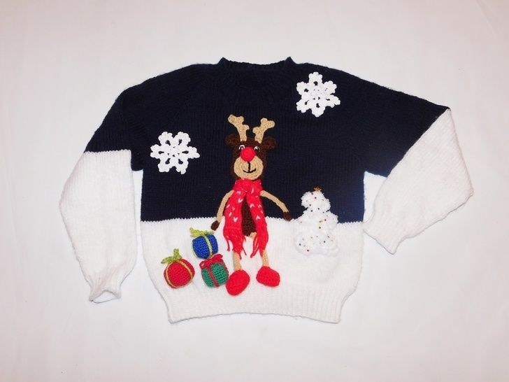 Strickanleitung Merry Christmas Pullover bei Makerist - Bild 1