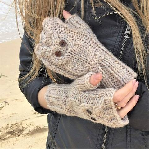 Owl Fingerless Mitts- 2yrs to l.adult
