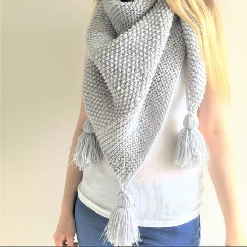 Sea Silver Shawl - Toddler to adult at Makerist