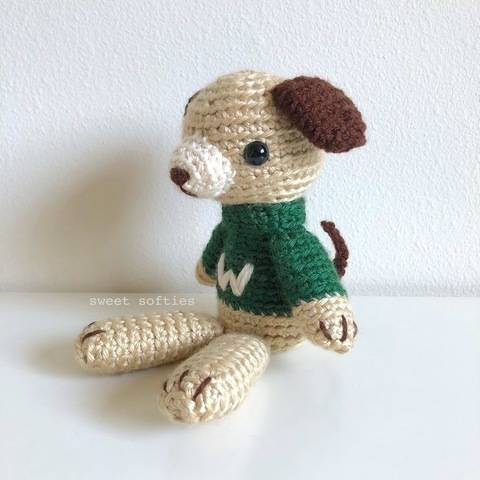Perry the Puppy Dog Amigurumi Animal Doll in Sweater