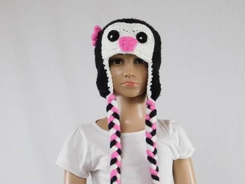 Häkelanleitung Kinder-Pinguin Mütze bei Makerist