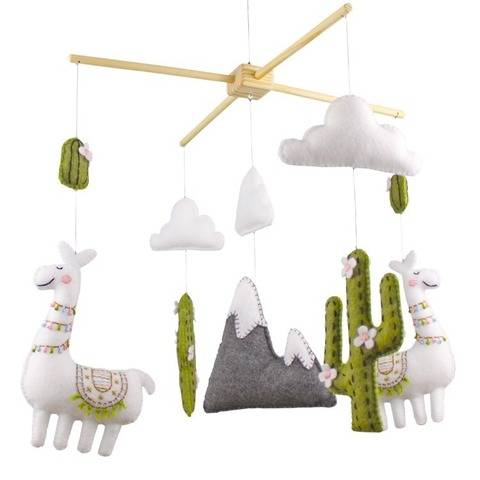 Llama and Cactus Nursery Mobile Hand Sewing Pattern at Makerist
