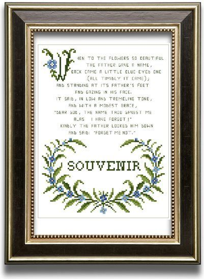 Forget me not - Cross stitch pattern at Makerist - Image 1