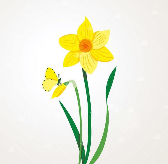 Frühling Narzisse - Plotterdatei  bei Makerist - Bild 1