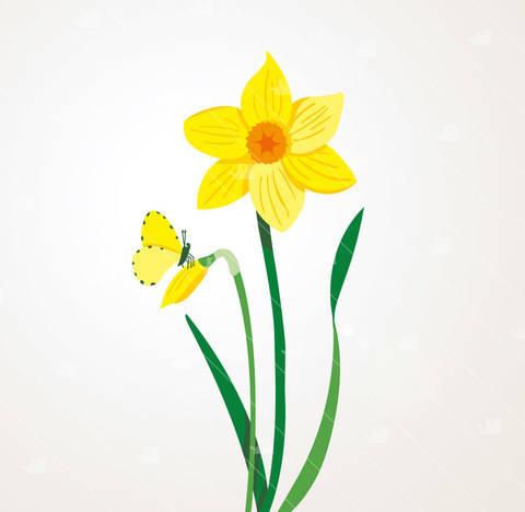Frühling Narzisse - Plotterdatei  bei Makerist