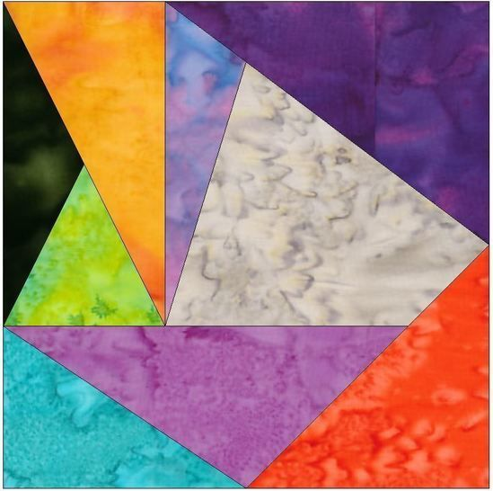 Crazy Block 8 - 10 Inch Paper Piecing Foundation Quilting Pattern at Makerist - Image 1