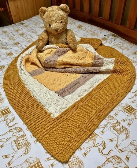 Bears and Bows Baby Blanket (Afghan) at Makerist - Image 1