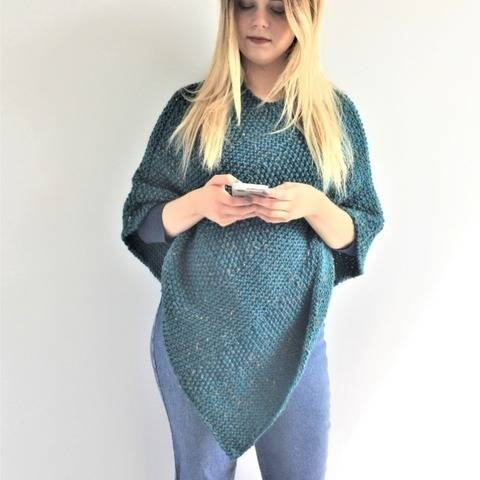 Lorna Poncho - one size to fit small to large adult