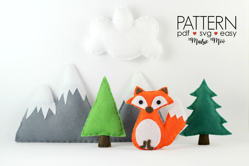 Fox Mobile Fox Baby Mobile Pattern Woodland Nursery Mobile at Makerist - Image 1