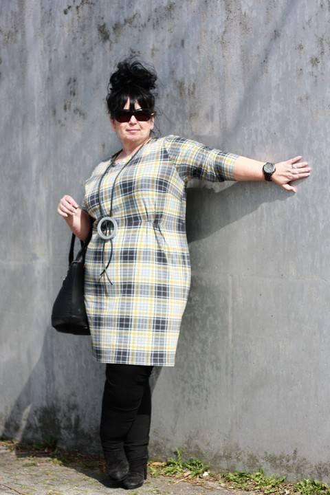 Kleid Nr.3 PLUS / Gr L bis XXL / Schnittmuster und Nähanleitung / EBOOK bei Makerist