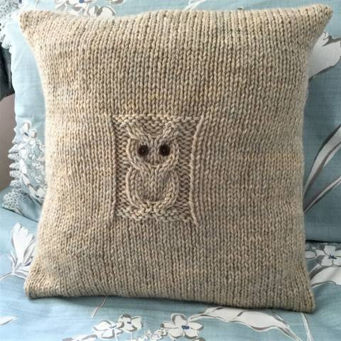Solitary Owl Cushion Cover - 41cm,16in sq.