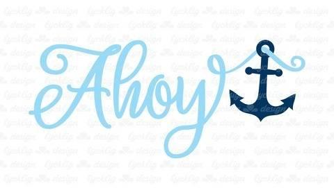 Plotterdatei Ahoy Anker