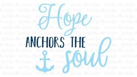 """Plotterdatei """"Hope anchors the soul"""" Anker"""
