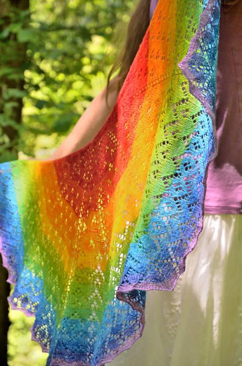 Strickanleitung Soft Rainbow Tuch