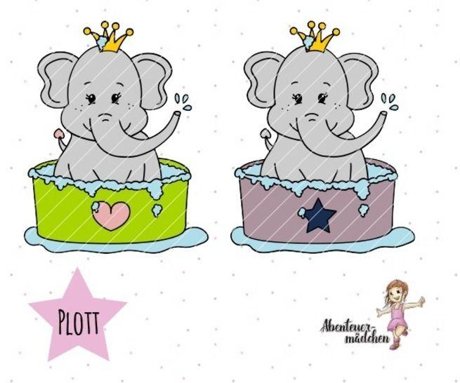 Elefant Ole Plotterdatei bei Makerist - Bild 1