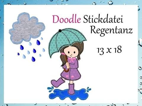 Doodle Stickdatei Regentanz 13x18 bei Makerist