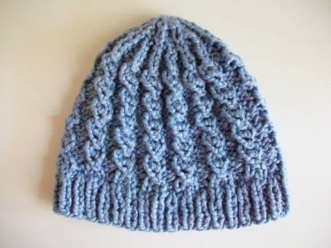 Rustic Twist Knit Hat