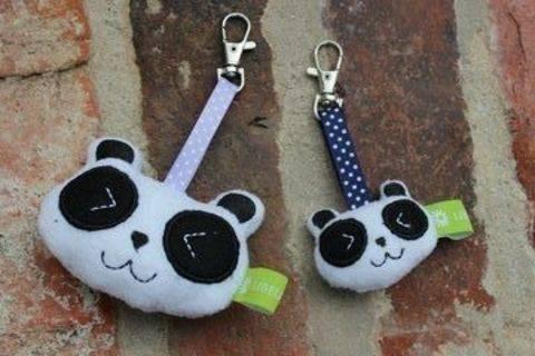 Panda-Anhänger Stickdatei ♥ ITH 10x10 bei Makerist