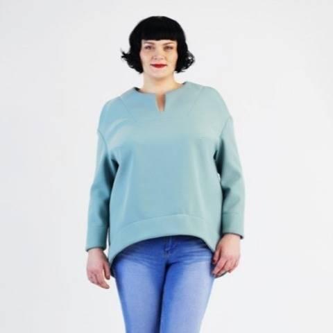 Betty Shirt grandes tailles - Patron et Instructions en Allemand et en Anglais