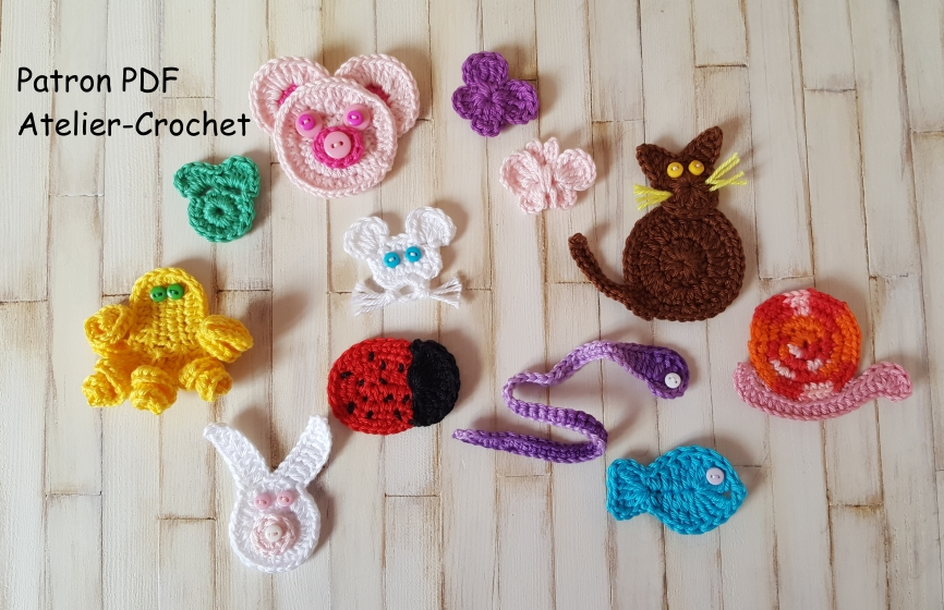 Applique Animaux Au Crochet