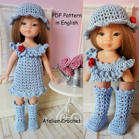 """""""Mélusine"""" for Paola Reina or Chérie Corolle doll at Makerist"""