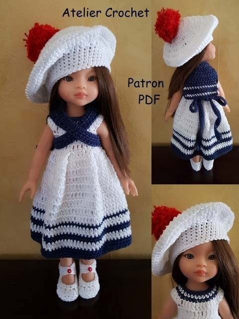 """""""Marina"""" for Paola Reina or Chérie Corolle doll at Makerist"""