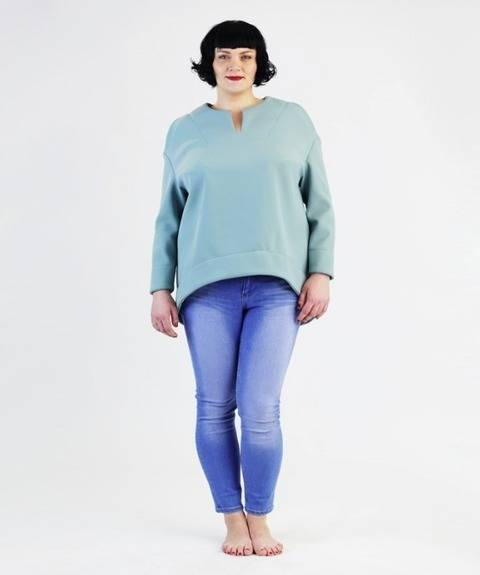 Betty Top / Shirt for plus-sizes - Sewing pattern and instructions at Makerist