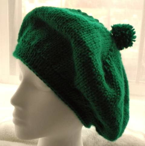 St. Patrick's Day Beret- Knitting Pattern