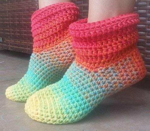 Crochet - Chaussons « Grand-mère Mine » chez Makerist