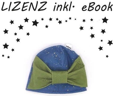 Mütze Schleifenliebe GEWERBELIZENZ + eBook (Nähanleitung und Schnittmuster für KU 34-37cm) bei Makerist