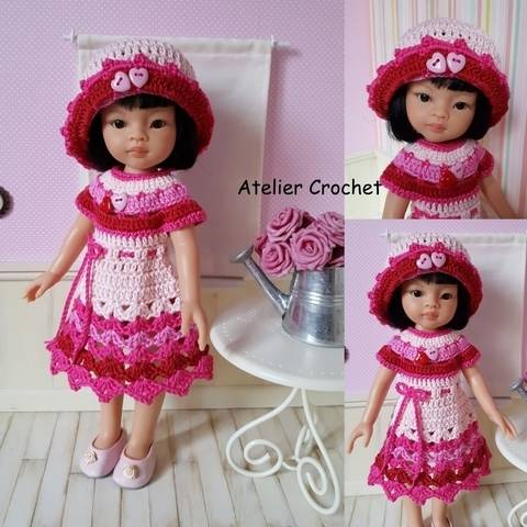 """""""Valentina"""" for Paola Reina or Chérie Corolle doll at Makerist"""