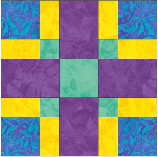 Criss Cross 15 inch Quilting Template Block Pattern PDF at Makerist - Image 1