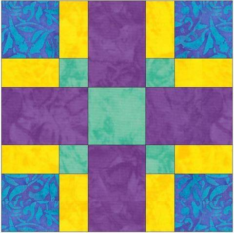 Criss Cross 15 inch Quilting Template Block Pattern PDF