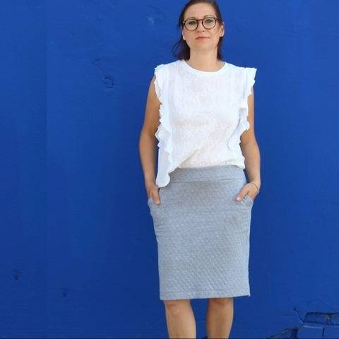 """Cozy-Skirt-Women"" Sweat-Rock / Schnittmuster bei Makerist"