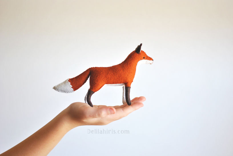 stuffed fox sewing pattern, hand sewing felt animal pattern at Makerist - Image 1