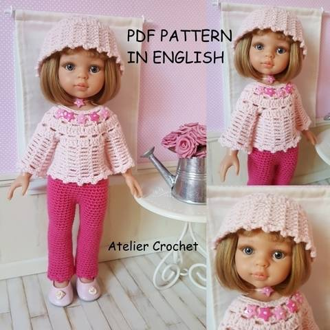 """""""Adeline"""" for Paola Reina or Chérie Corolle doll at Makerist"""