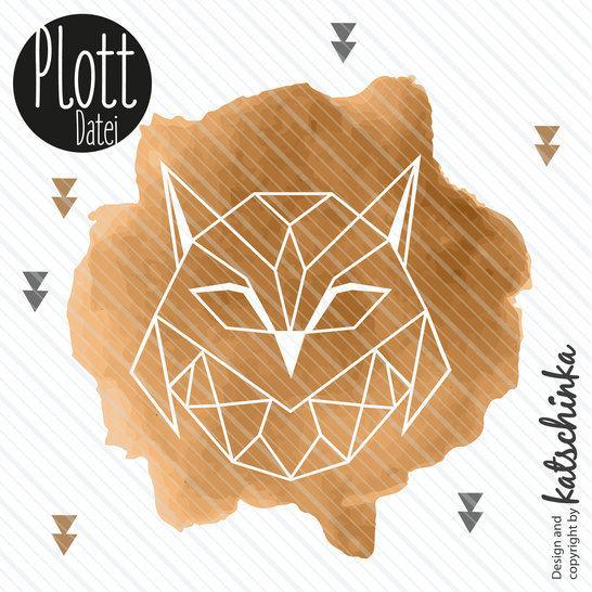 Plottervorlage ORION Eule - Plottdatei geometrisch Vogel // Owl bei Makerist - Bild 1