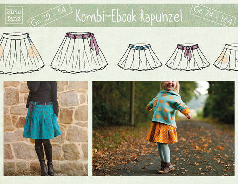 Kombi-Ebook Rapunzel: Damen + Kinder