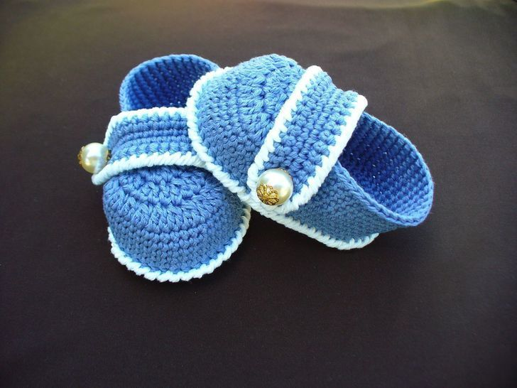 Baby Booties Crochet Pattern at Makerist - Image 1