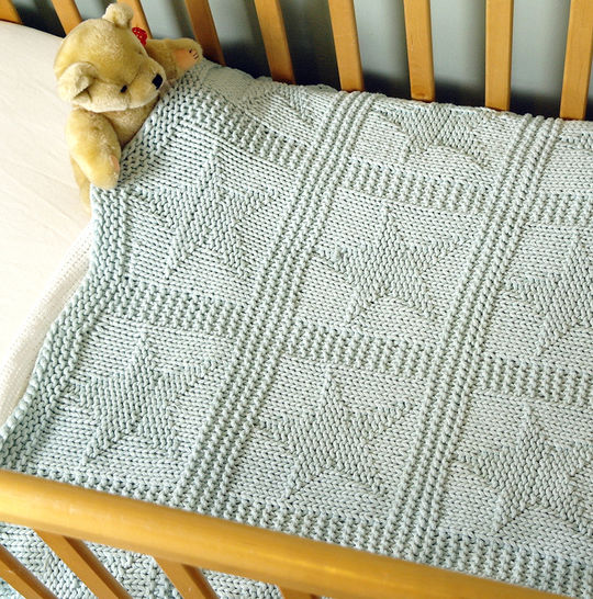 Easy chunky baby blanket with stars at Makerist - Image 1
