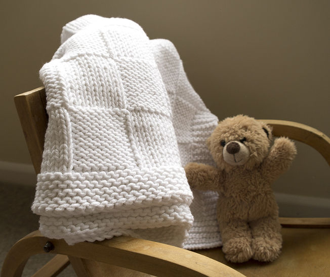 Easy baby blanket knitting pattern at Makerist - Image 1