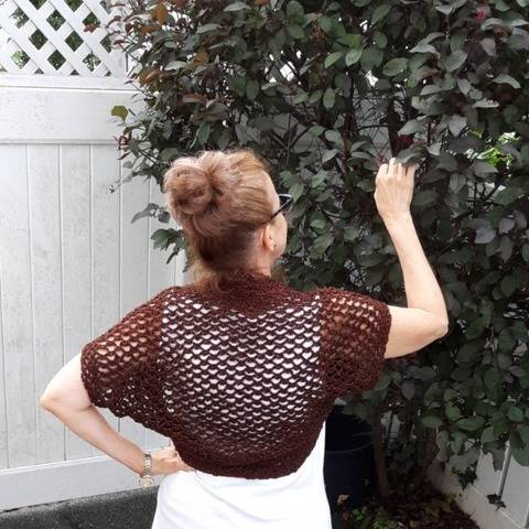 Black Eyed Susan Bolero/Shrug- Crochet Pattern