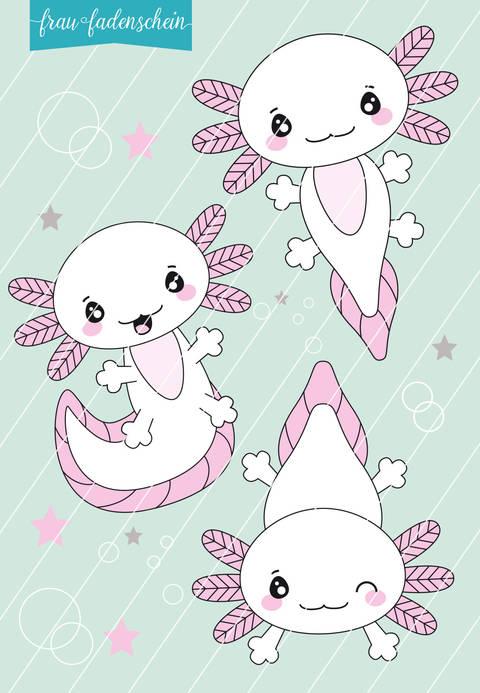 Appliziervorlage Lotti Axolotl